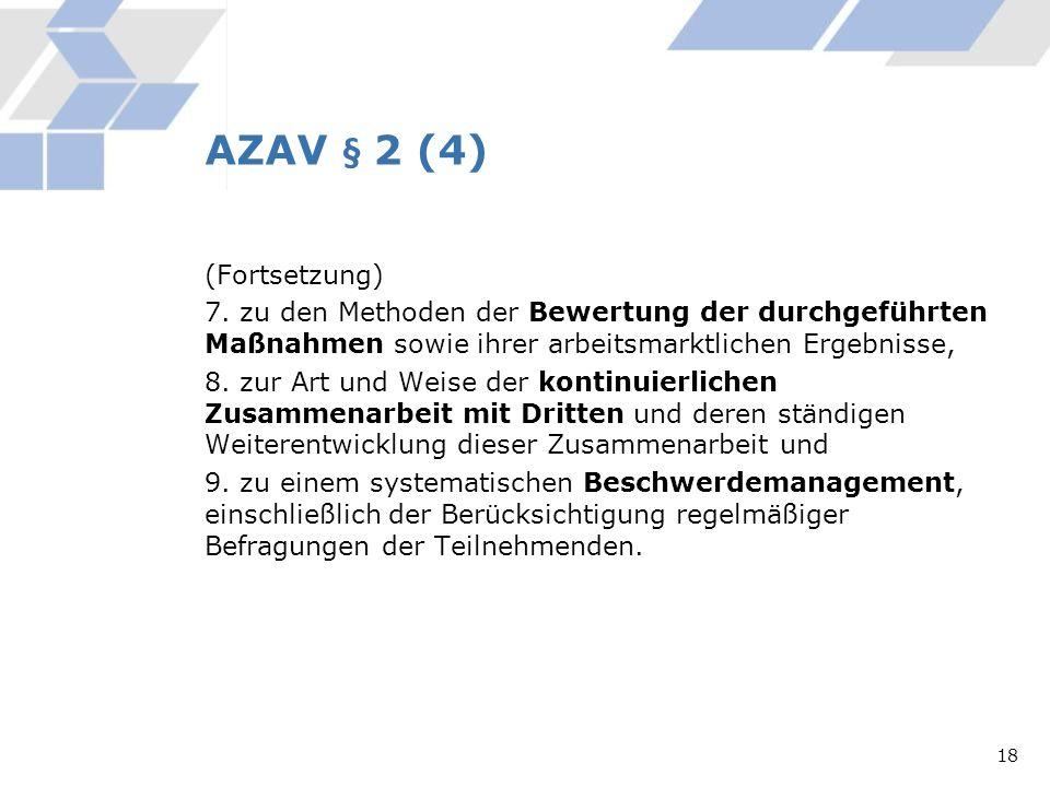 AZAV § 2 (4)