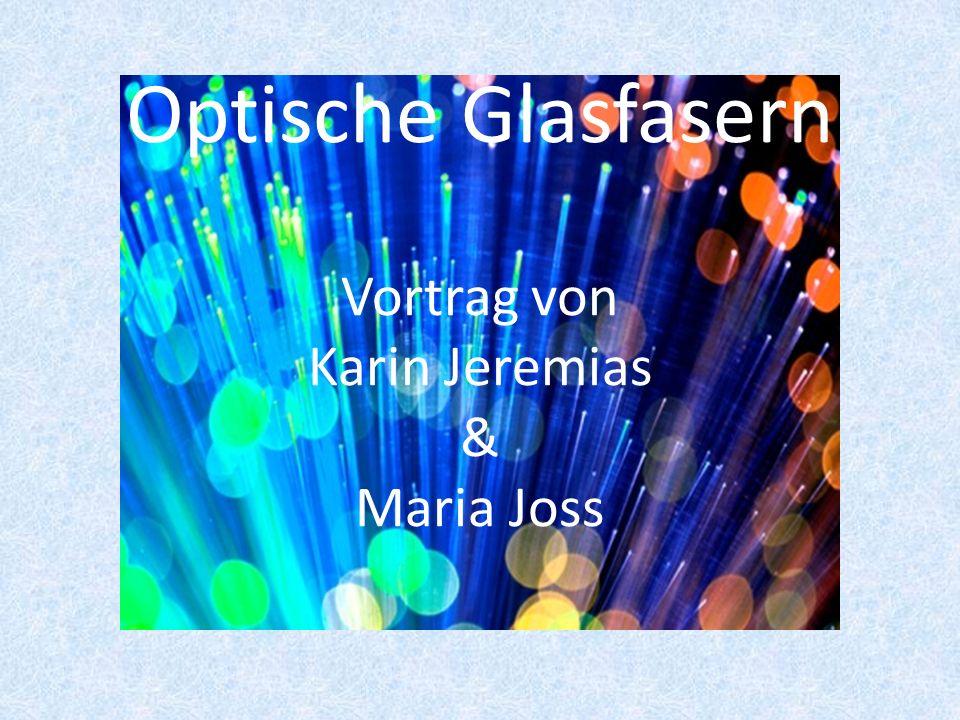 Optische Glasfasern Vortrag von Karin Jeremias & Maria Joss