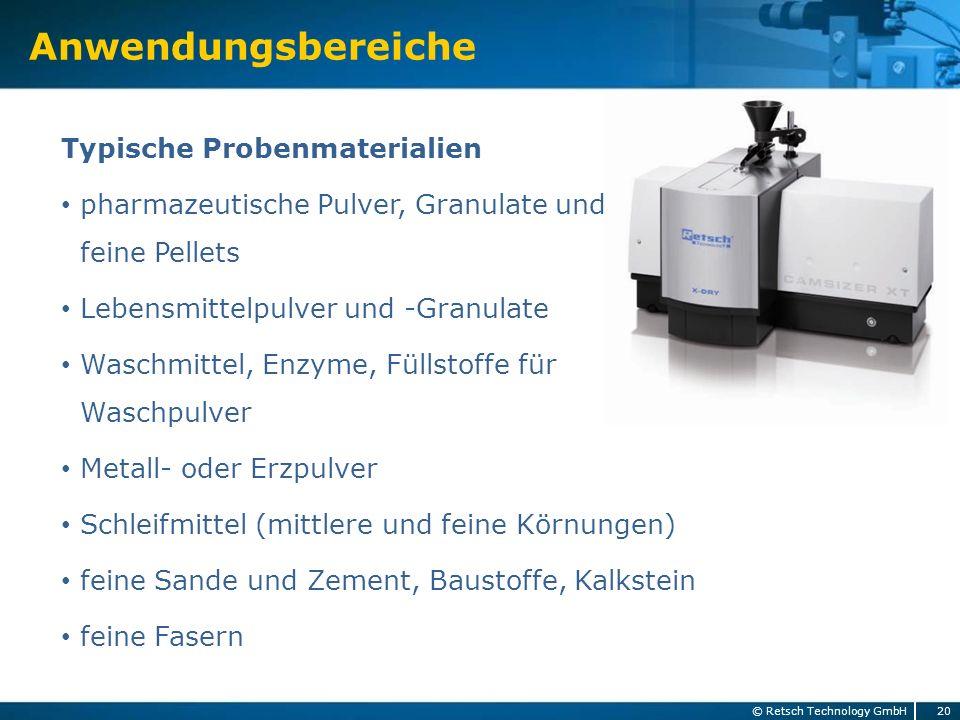 Anwendungsbereiche Typische Probenmaterialien