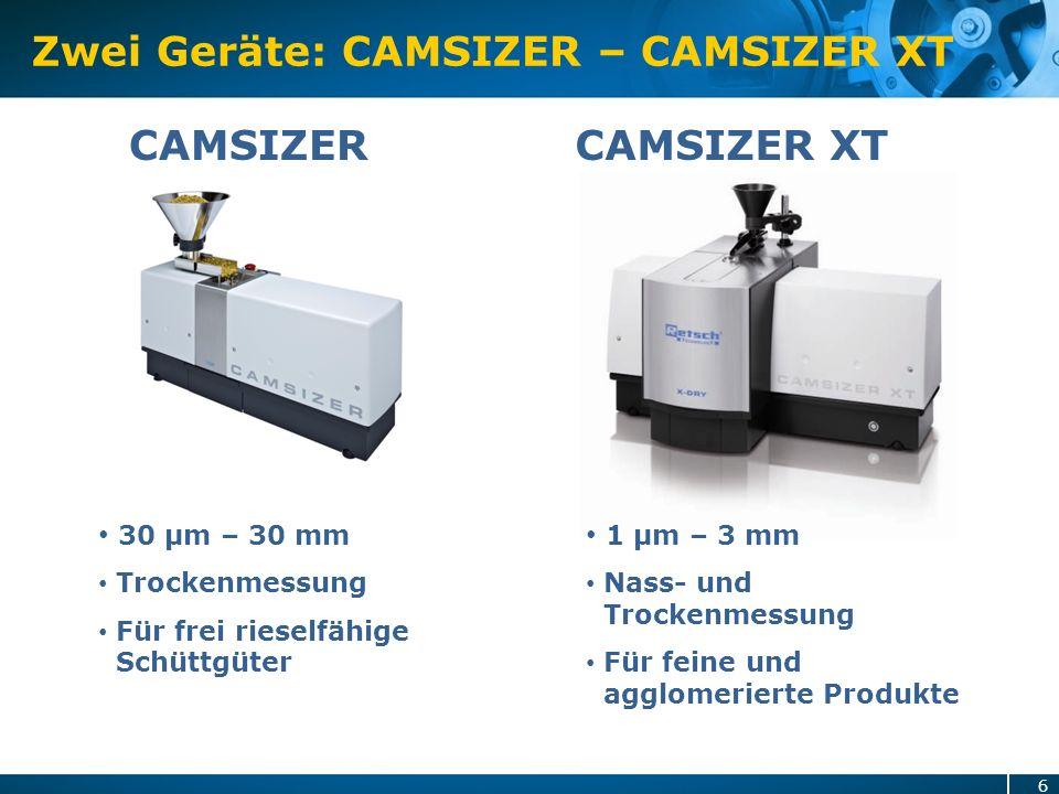 Zwei Geräte: CAMSIZER – CAMSIZER XT