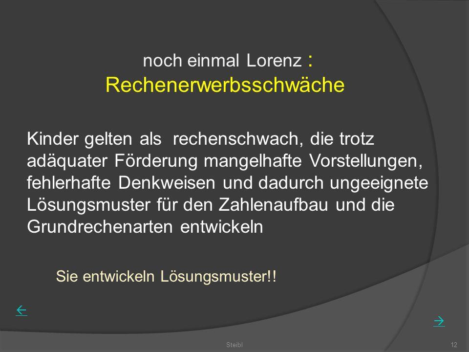 noch einmal Lorenz : Rechenerwerbsschwäche