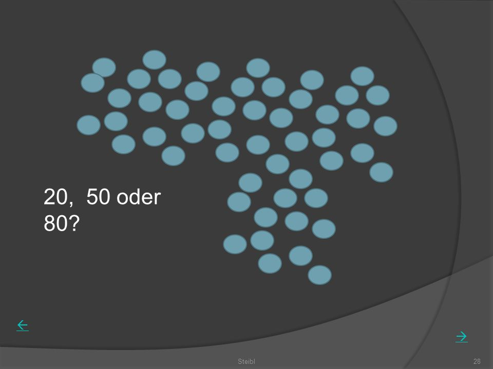 20, 50 oder 80 Steibl