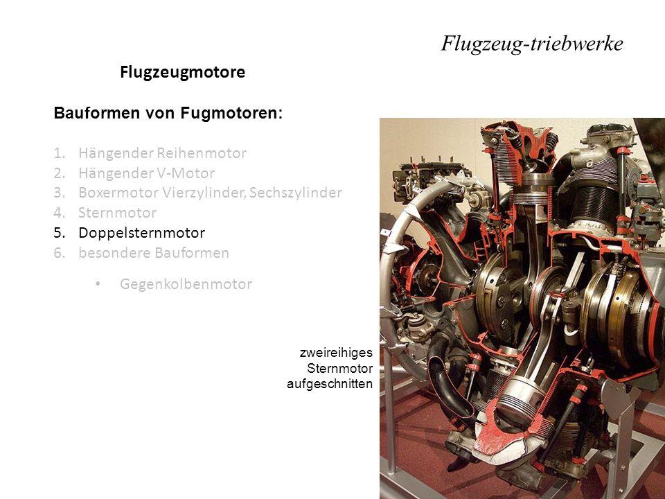 Flugzeug-triebwerke Flugzeugmotore Bauformen von Fugmotoren: