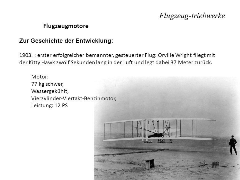 Flugzeug-triebwerke Flugzeugmotore Zur Geschichte der Entwicklung: