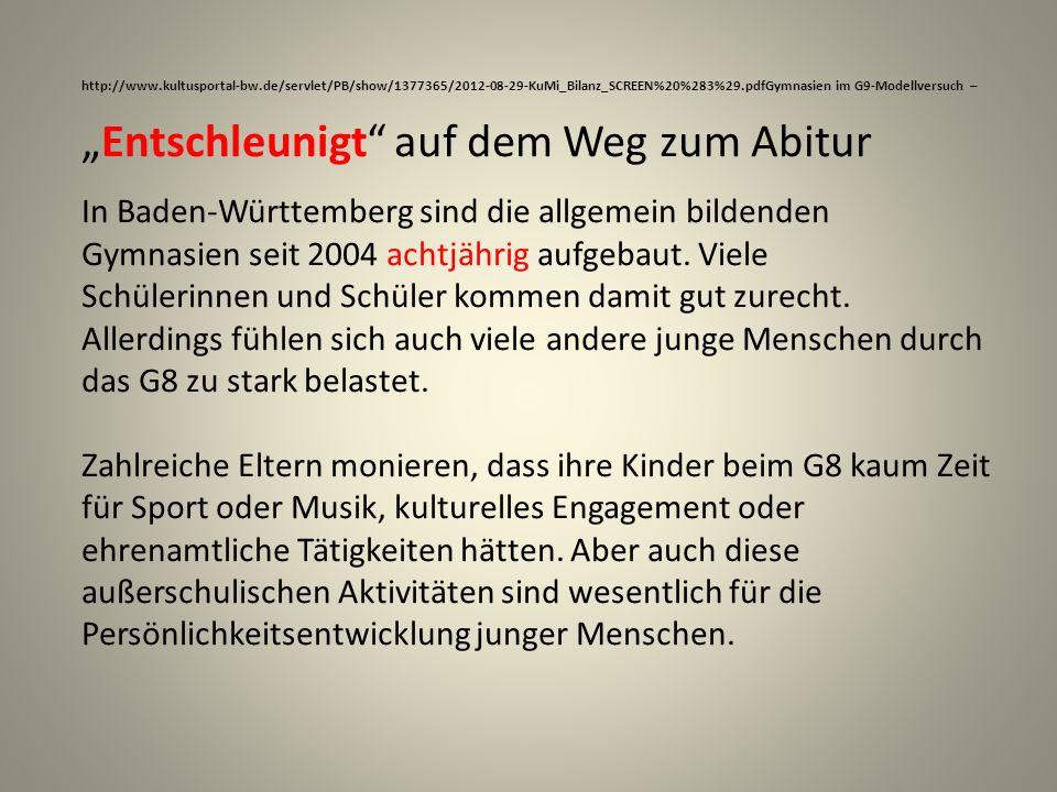"""""""Entschleunigt auf dem Weg zum Abitur"""