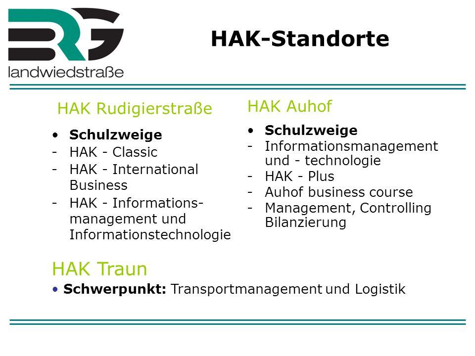 HAK-Standorte HAK Traun HAK Rudigierstraße HAK Auhof Schulzweige