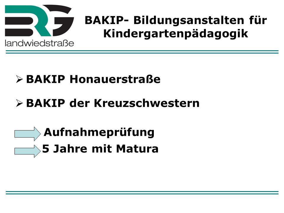 BAKIP- Bildungsanstalten für Kindergartenpädagogik
