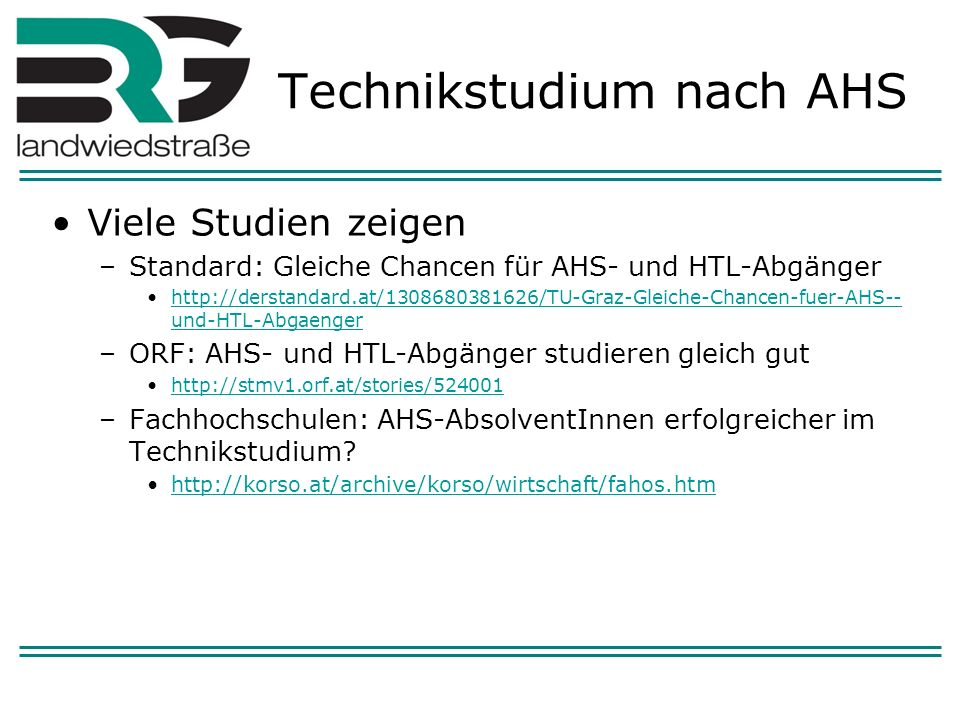 Technikstudium nach AHS
