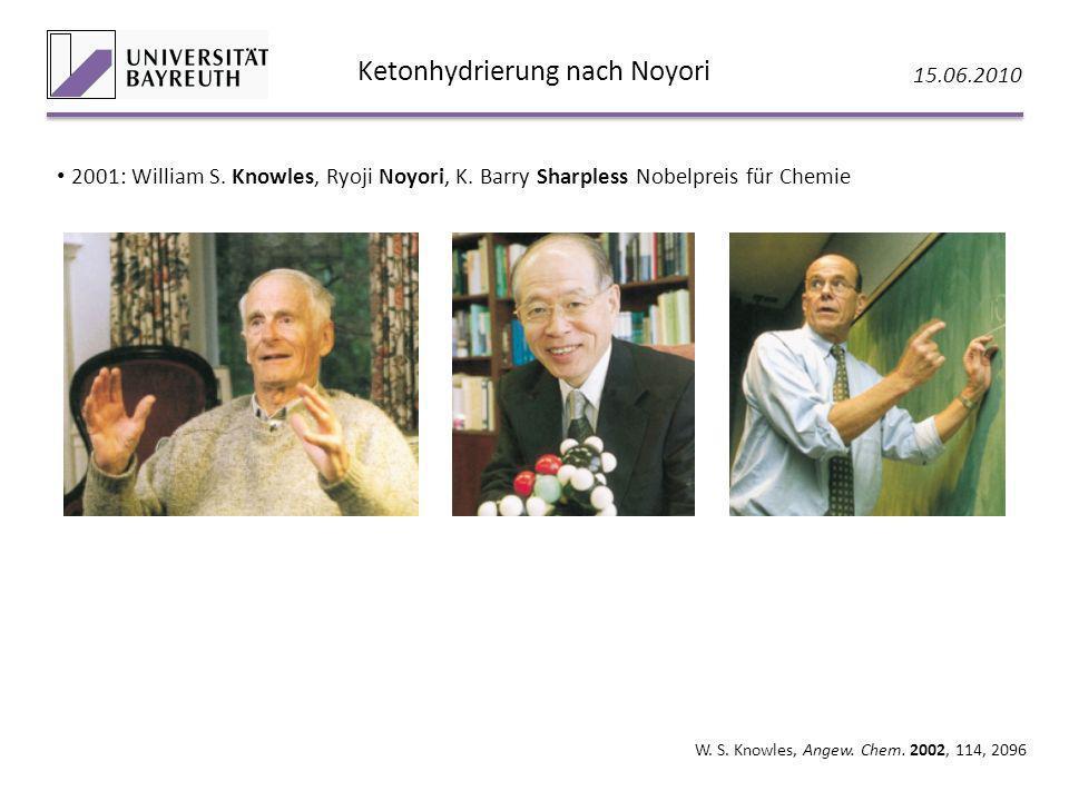 Ketonhydrierung nach Noyori