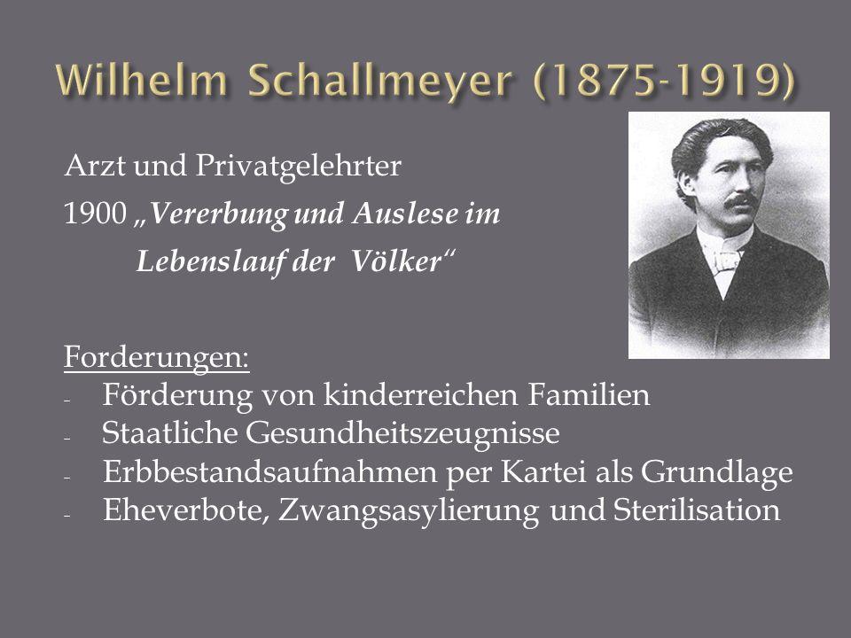 Wilhelm Schallmeyer (1875-1919)