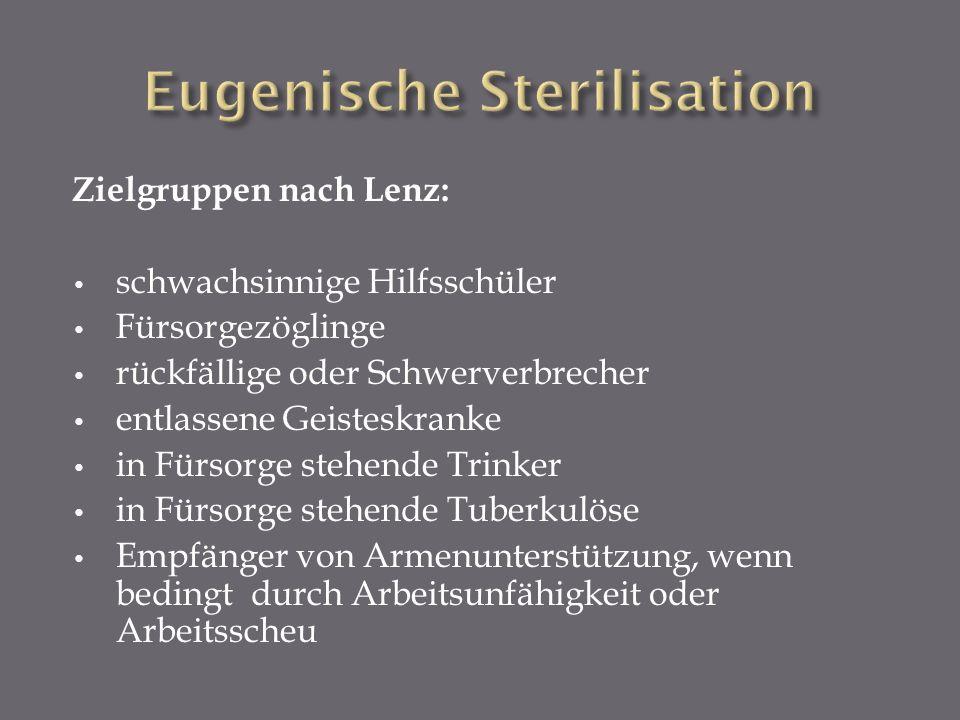 Eugenische Sterilisation