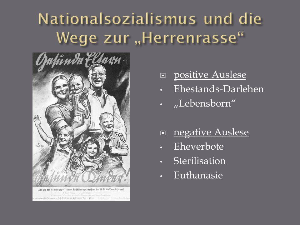 """Nationalsozialismus und die Wege zur """"Herrenrasse"""