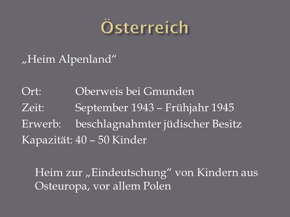 """Österreich """"Heim Alpenland Ort: Oberweis bei Gmunden"""