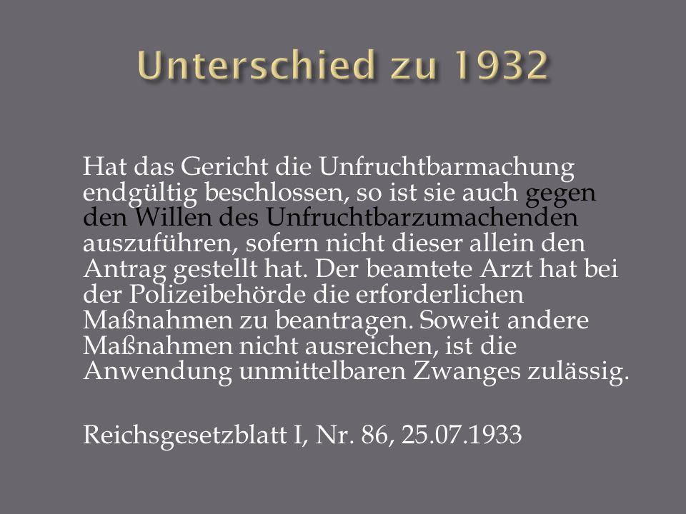 Unterschied zu 1932