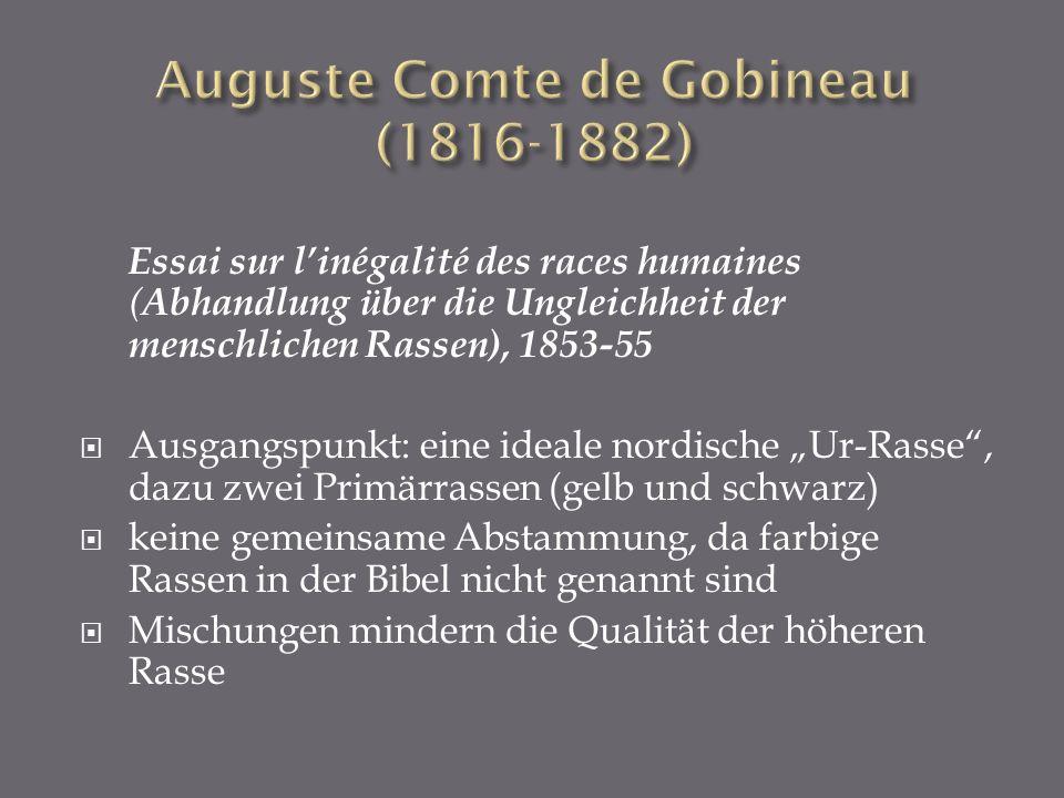 Auguste Comte de Gobineau (1816-1882)