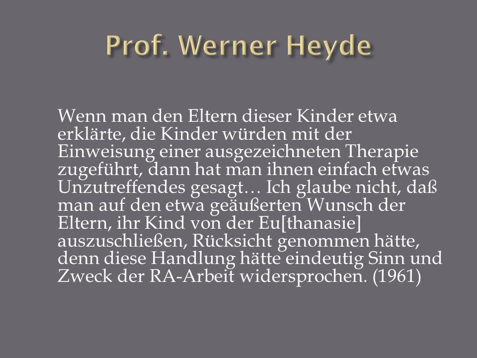 Prof. Werner Heyde