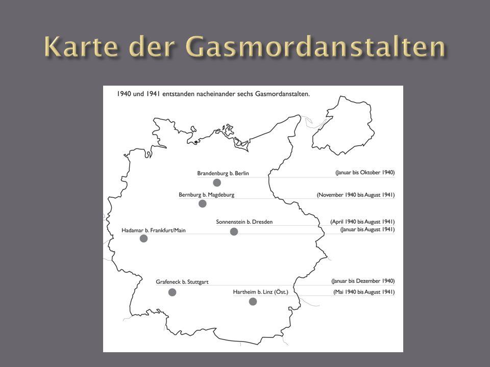 Karte der Gasmordanstalten