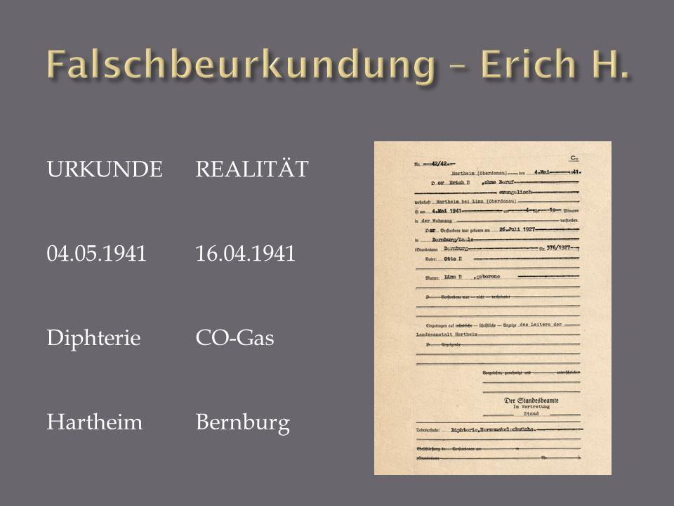 Falschbeurkundung – Erich H.