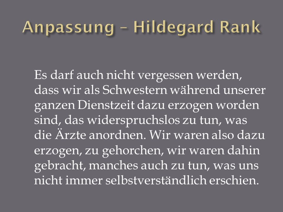 Anpassung – Hildegard Rank