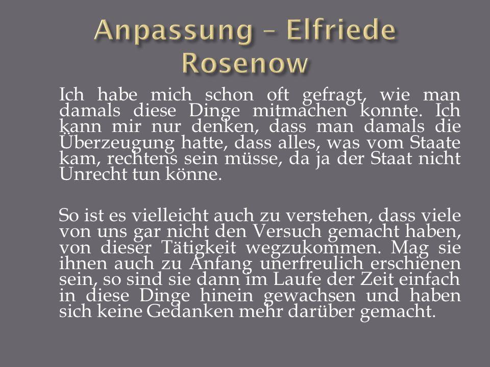 Anpassung – Elfriede Rosenow