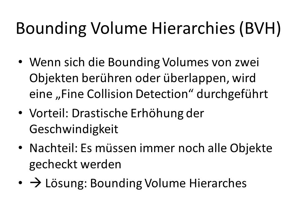 Bounding Volume Hierarchies (BVH)