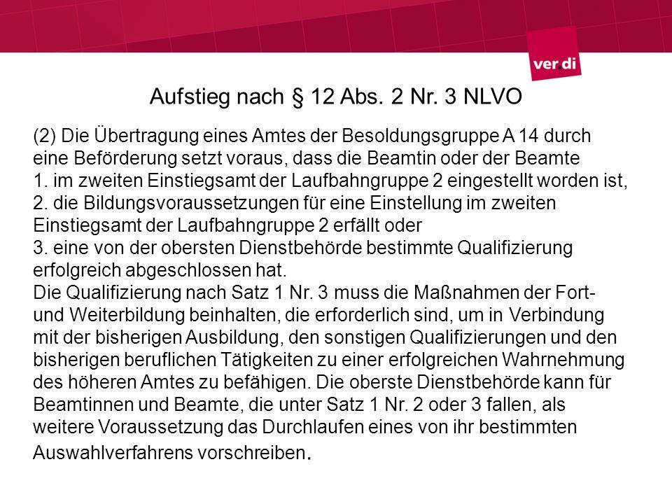 Aufstieg nach § 12 Abs. 2 Nr. 3 NLVO