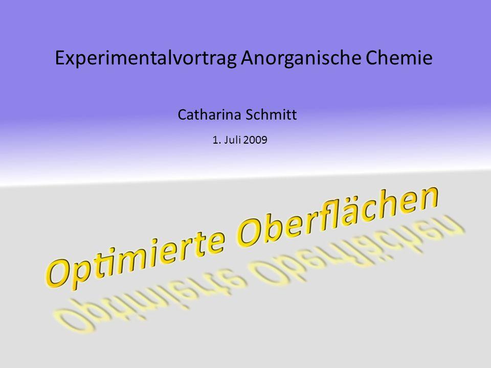 Experimentalvortrag Anorganische Chemie