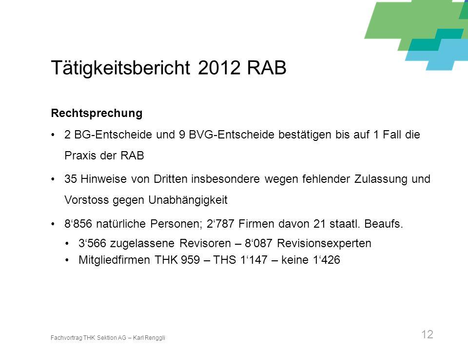 Tätigkeitsbericht 2012 RAB