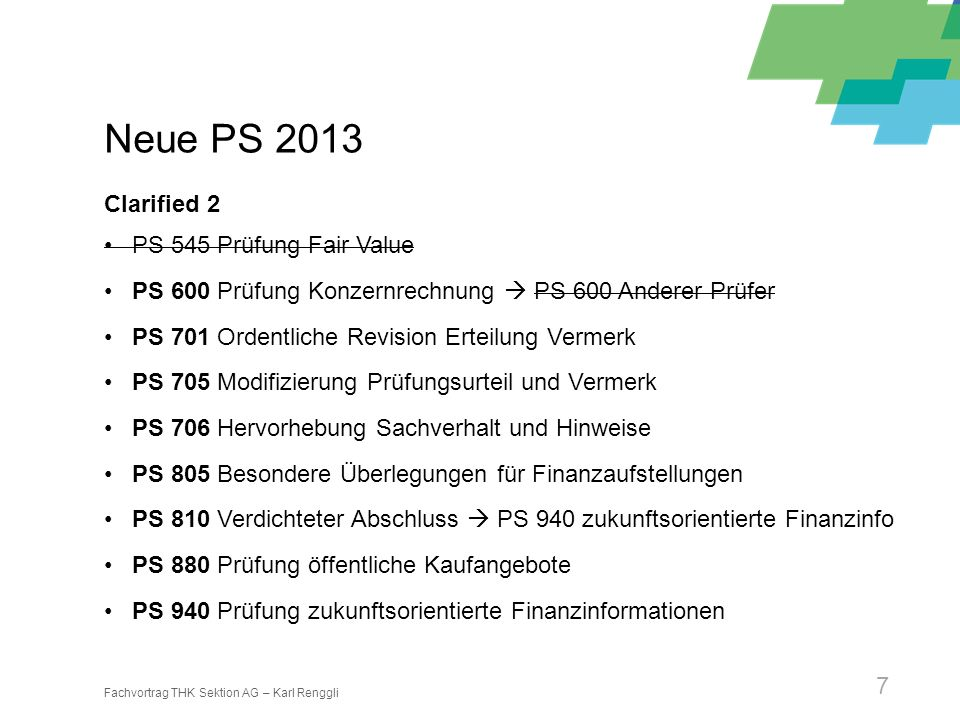Neue PS 2013 Clarified 2 PS 545 Prüfung Fair Value