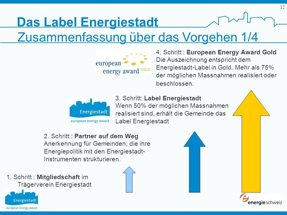 1. Schritt : Mitgliedschaft im Trägerverein Energiestadt
