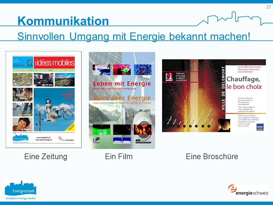 Kommunikation Sinnvollen Umgang mit Energie bekannt machen!