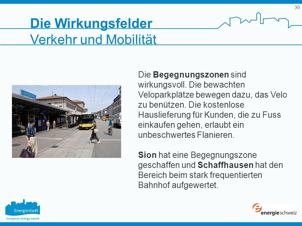 Die Wirkungsfelder Verkehr und Mobilität