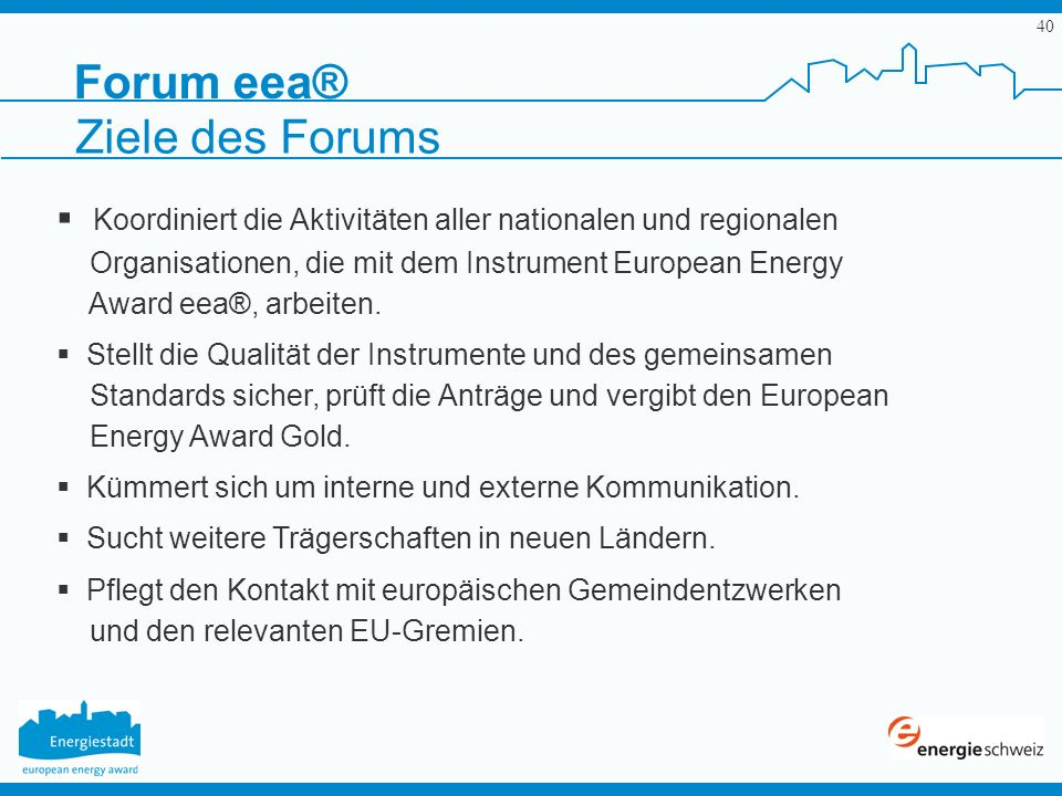 Forum eea® Ziele des Forums