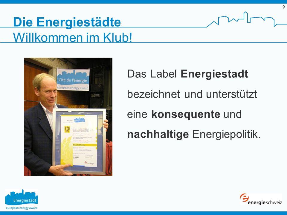 Die Energiestädte Willkommen im Klub!