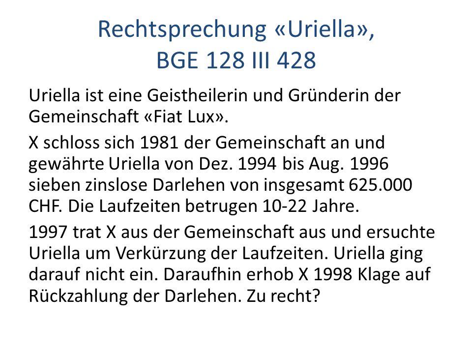 Rechtsprechung «Uriella», BGE 128 III 428