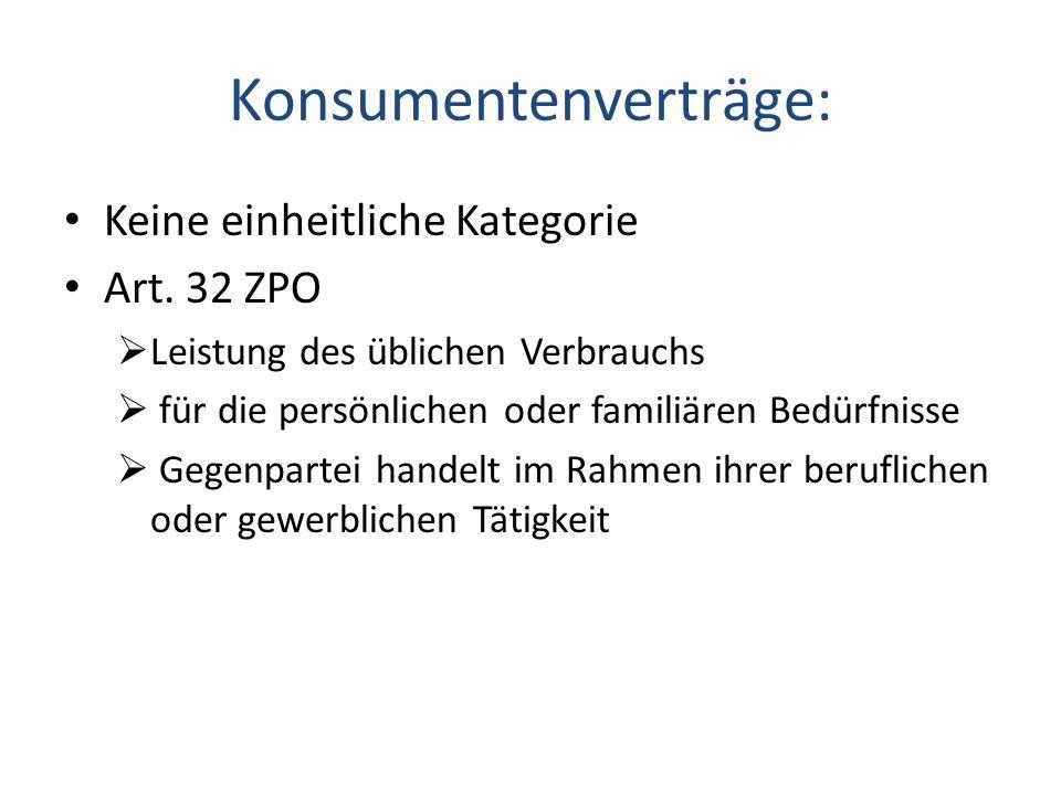 Konsumentenverträge: