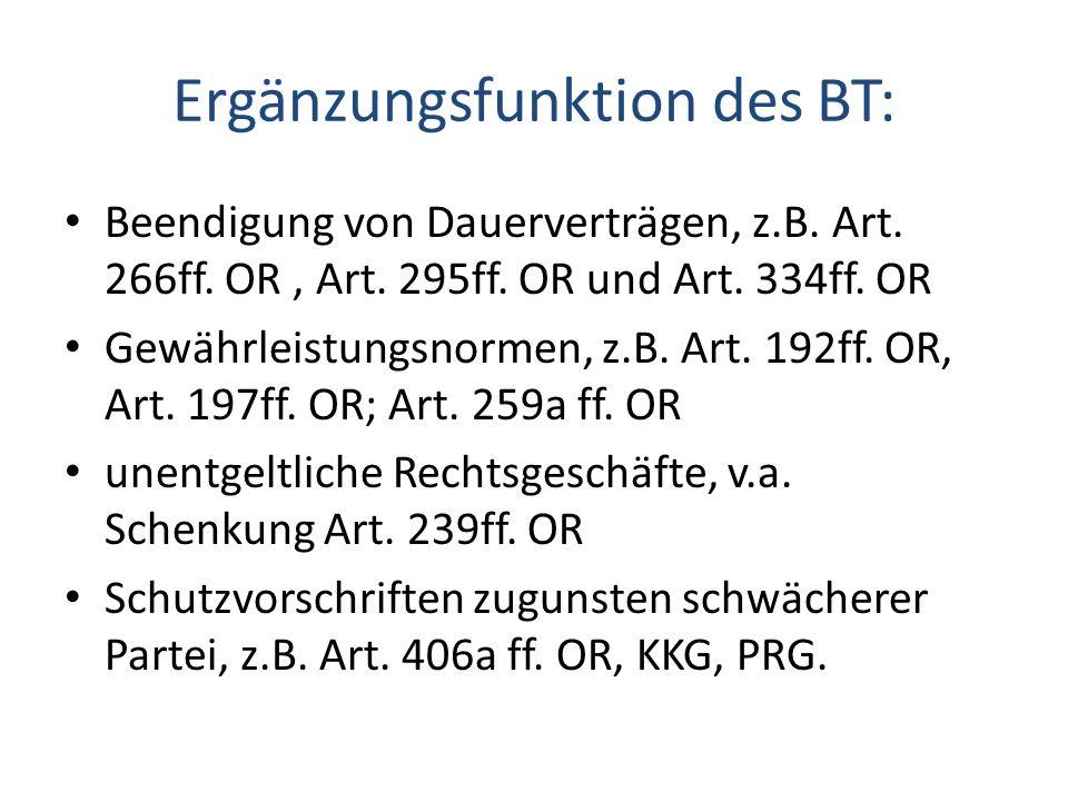 Ergänzungsfunktion des BT: