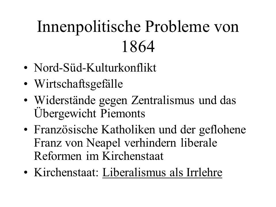 Innenpolitische Probleme von 1864