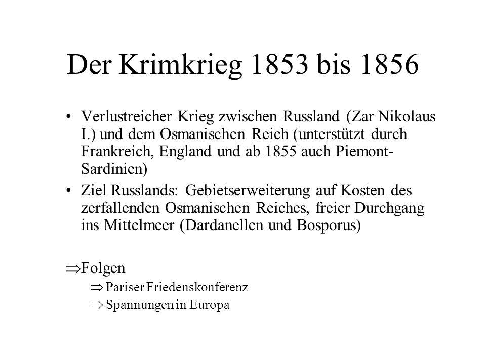 Der Krimkrieg 1853 bis 1856