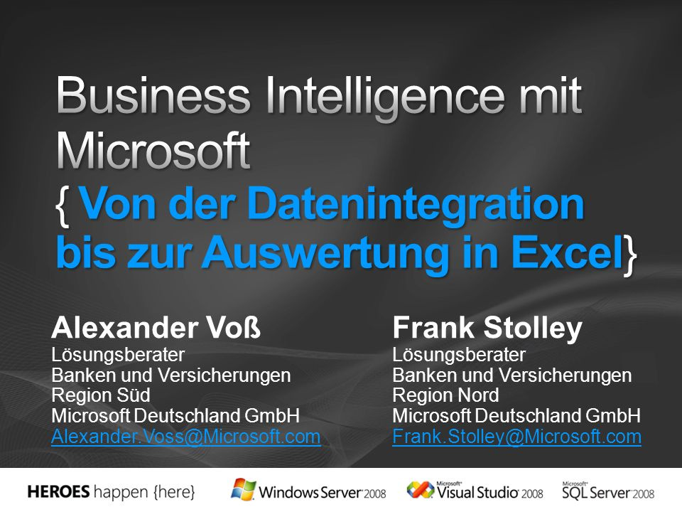 3/28/2017 1:24 PM Business Intelligence mit Microsoft { Von der Datenintegration bis zur Auswertung in Excel}