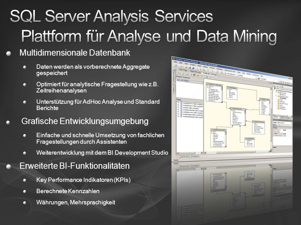 SQL Server Analysis Services Plattform für Analyse und Data Mining