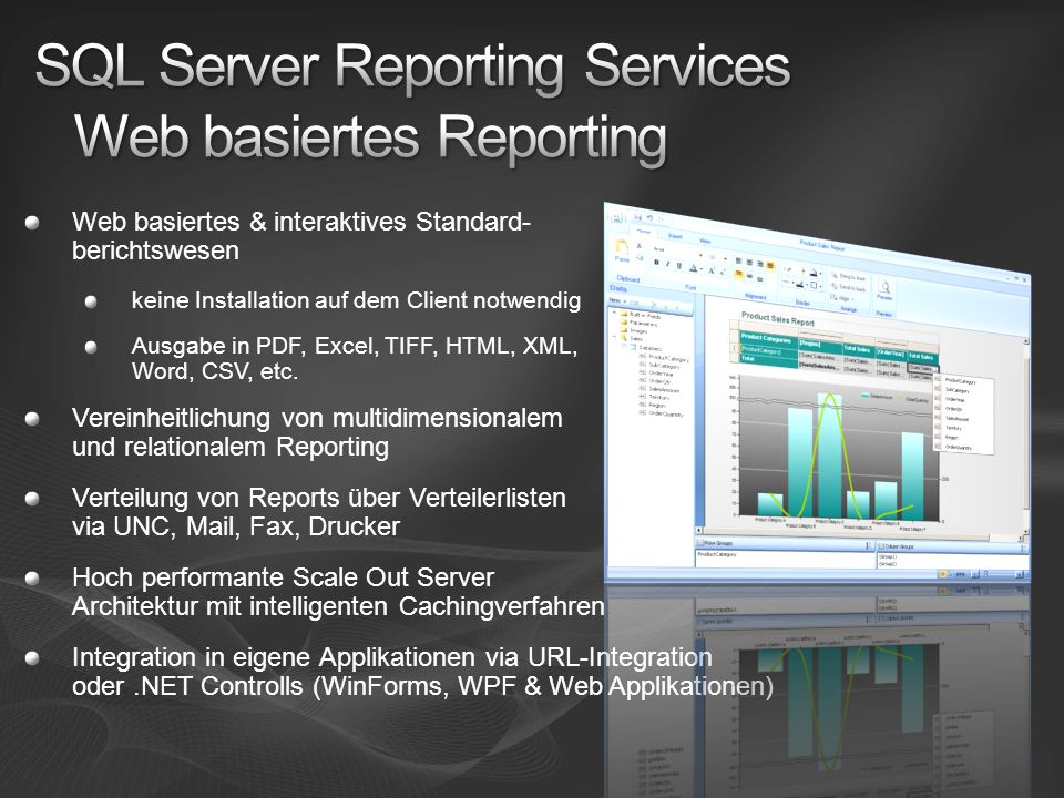 SQL Server Reporting Services Web basiertes Reporting