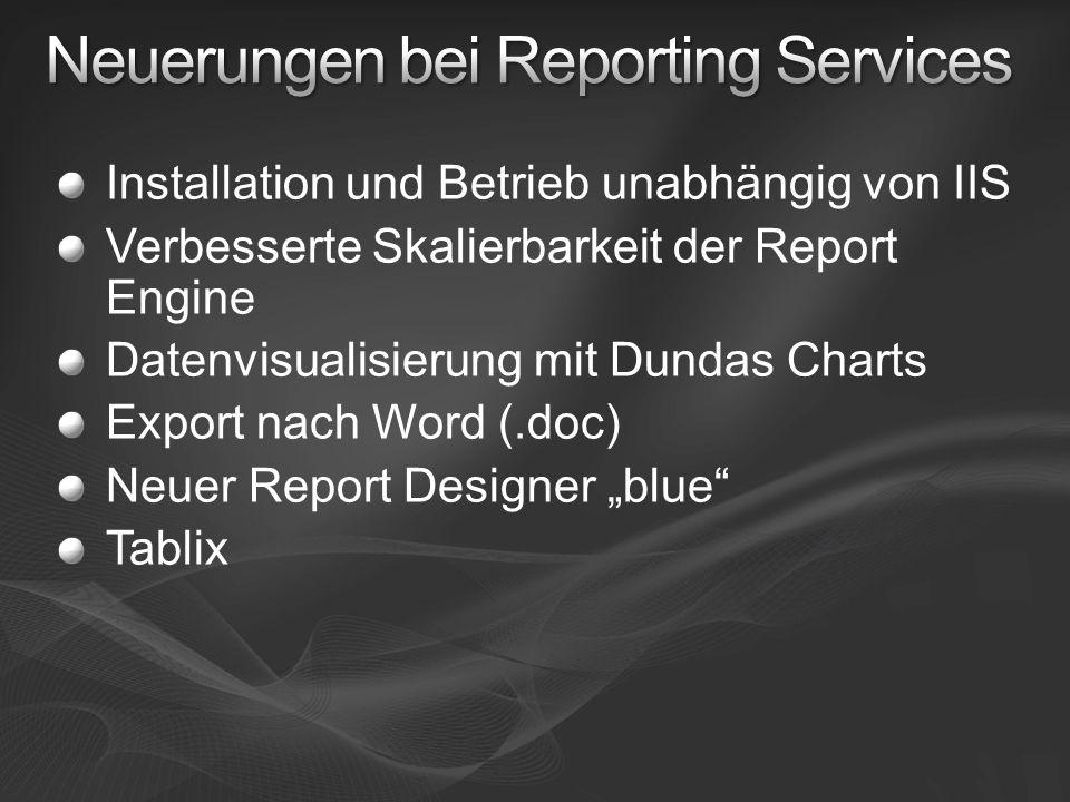 Neuerungen bei Reporting Services
