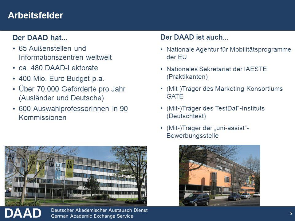 Arbeitsfelder Der DAAD hat...