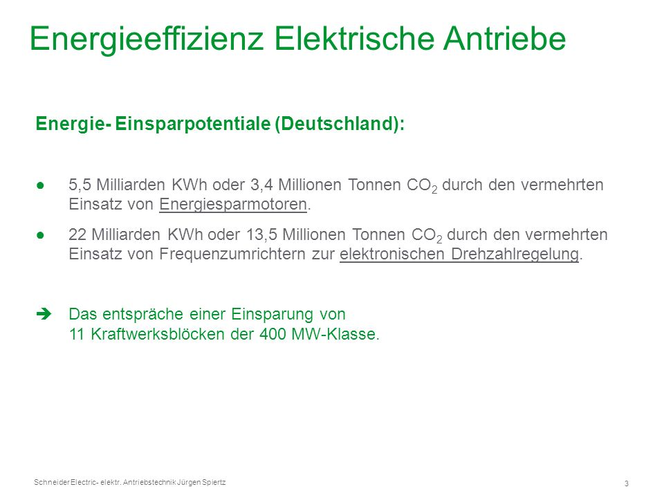 Energieeffizienz Elektrische Antriebe