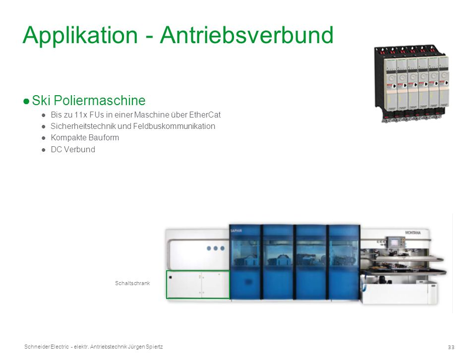 Applikation - Antriebsverbund