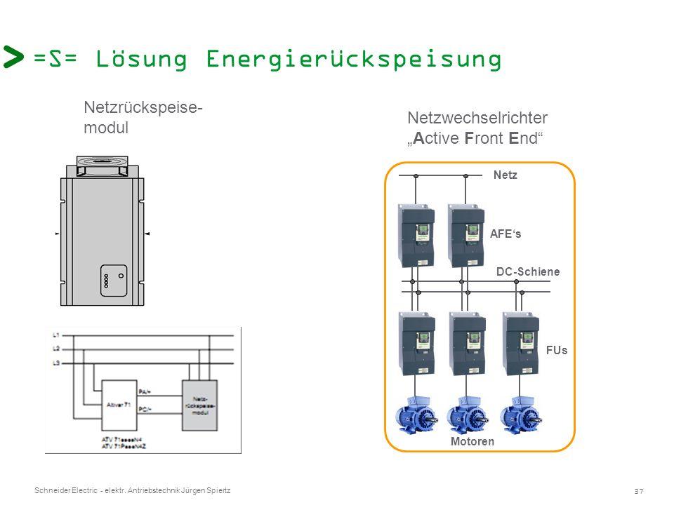 =S= Lösung Energierückspeisung