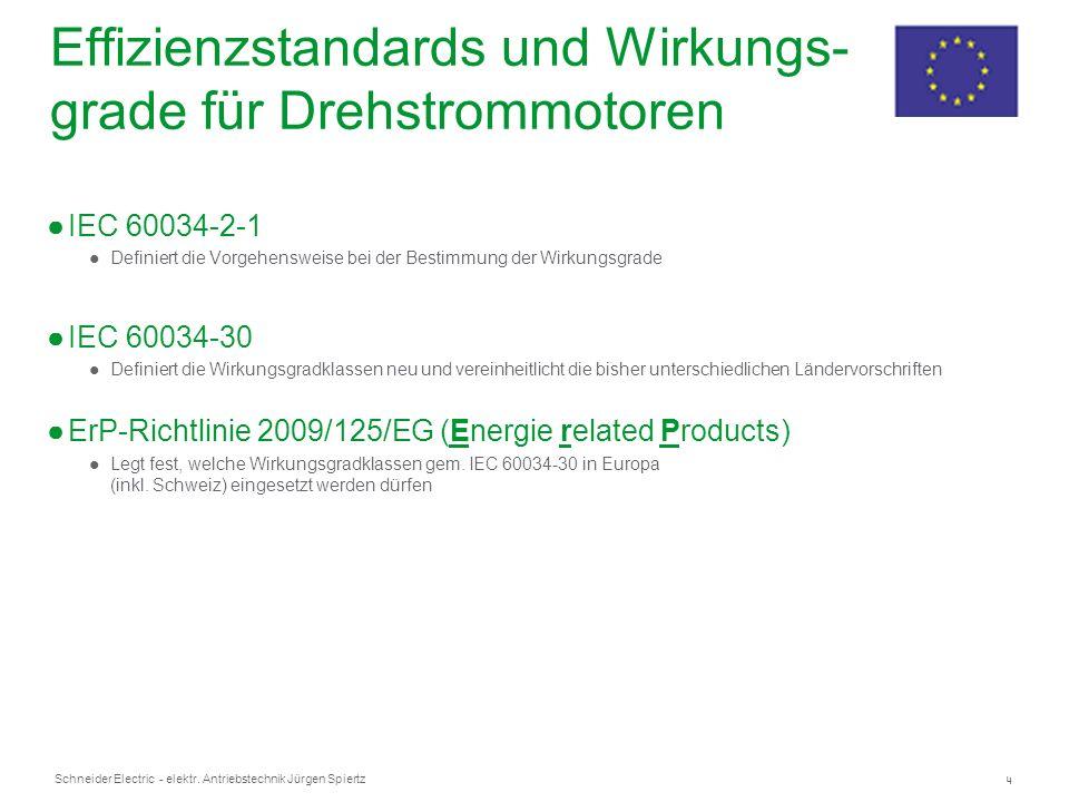 Effizienzstandards und Wirkungs-grade für Drehstrommotoren