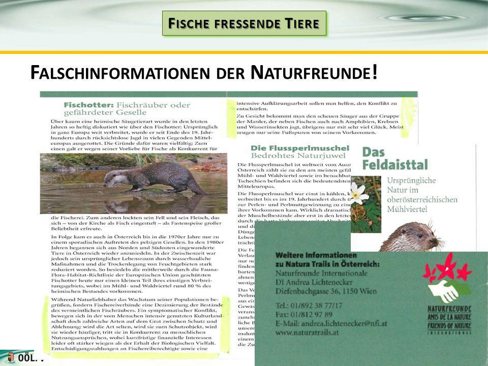 Falschinformationen der Naturfreunde!