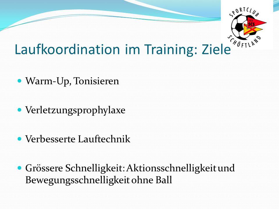 Laufkoordination im Training: Ziele
